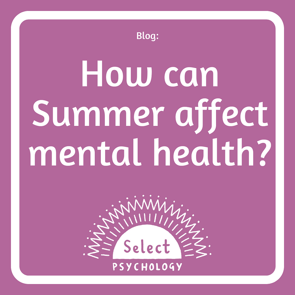 how can summer affect mental health